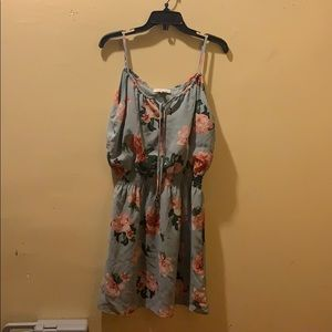 Speed Control, floral tie front mini dress, size M